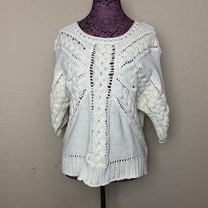 Rosie Neira Anthropologie Cream Dolman Sweater